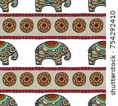 vintage graphic vector indian... | Shutterstock .eps vector #754292410