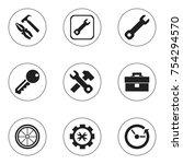 set of 9 editable mechanic...