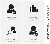 set of 4 editable global icons. ...