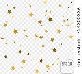 gold star confetti rain festive ... | Shutterstock .eps vector #754300336