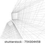 architecture building vector... | Shutterstock .eps vector #754304458