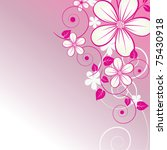 abstract floral background with ...   Shutterstock .eps vector #75430918
