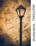 antique style lamp post with... | Shutterstock . vector #754311940