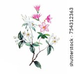 flowers are full of romance ...   Shutterstock . vector #754312363