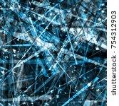 blue seamless texture. stripes  ... | Shutterstock .eps vector #754312903