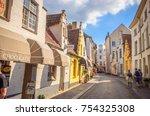 bruges  belgium 13 july  2017 ... | Shutterstock . vector #754325308