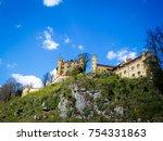 hohenschwangau castle at fussen ... | Shutterstock . vector #754331863