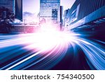 abstract motion city background  | Shutterstock . vector #754340500