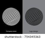abstract logo design.logo... | Shutterstock .eps vector #754345363