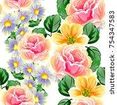abstract elegance seamless... | Shutterstock . vector #754347583