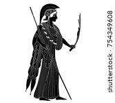 isolated vector silhouette of... | Shutterstock .eps vector #754349608