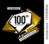 100th anniversary celebration...   Shutterstock .eps vector #754350046