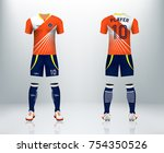 3d realistic of front and back... | Shutterstock .eps vector #754350526