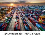 logistics and transportation of ... | Shutterstock . vector #754357306