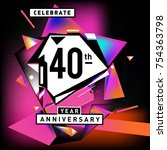 40th years anniversary card... | Shutterstock .eps vector #754363798