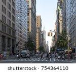 new york city   circa 2017 ... | Shutterstock . vector #754364110