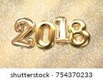 luxury celebration of 2018 | Shutterstock . vector #754370233