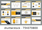 page layout design with info... | Shutterstock .eps vector #754370800