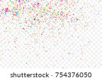 particle spray  dust and dots ... | Shutterstock .eps vector #754376050