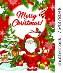 merry christmas wishes greeting ... | Shutterstock .eps vector #754378048