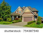 big custom made luxury house... | Shutterstock . vector #754387540