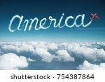 america word created from a...   Shutterstock . vector #754387864