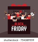 black friday shopping customer... | Shutterstock .eps vector #754389559