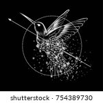 abstract image of a colibri... | Shutterstock .eps vector #754389730