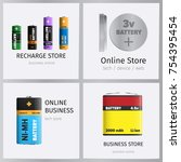 recharge online business store... | Shutterstock .eps vector #754395454
