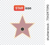 star hollywood . star award... | Shutterstock .eps vector #754397590