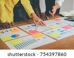 business concept. business... | Shutterstock . vector #754397860