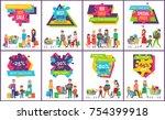 hot sale premium offer advert... | Shutterstock .eps vector #754399918