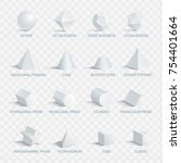 geometric 3d shapes with names... | Shutterstock .eps vector #754401664