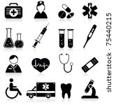 medical icons | Shutterstock .eps vector #75440215