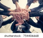 business people handshaking.... | Shutterstock . vector #754406668