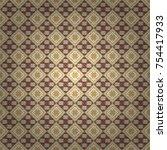 native batik watercolor... | Shutterstock .eps vector #754417933