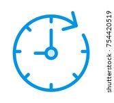 clock cute icon | Shutterstock .eps vector #754420519