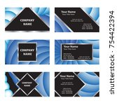 set of business cards with...   Shutterstock .eps vector #754422394