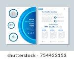 annual report  broshure  flyer  ... | Shutterstock .eps vector #754423153