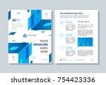 annual report  broshure  flyer  ... | Shutterstock .eps vector #754423336