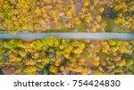 overhead aerial top view over...   Shutterstock . vector #754424830