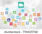 cloud business background   Shutterstock .eps vector #754425760