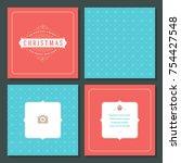 christmas greeting card vector...   Shutterstock .eps vector #754427548