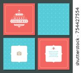 christmas greeting card vector...   Shutterstock .eps vector #754427554