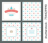 christmas greeting card vector...   Shutterstock .eps vector #754429990