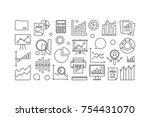 statistics and analytics... | Shutterstock .eps vector #754431070