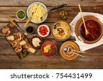 traditional italian vegetarian... | Shutterstock . vector #754431499