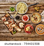 traditional italian vegetarian... | Shutterstock . vector #754431508