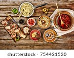 traditional italian vegetarian... | Shutterstock . vector #754431520