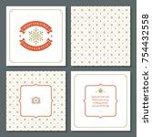 christmas greeting card vector...   Shutterstock .eps vector #754432558